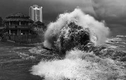 Tempestade, cidade de Sochi Imagens de Stock