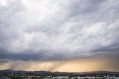 Tempestade com chuveiros pesados Imagem de Stock Royalty Free