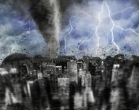 Tempestade da cidade fotografia de stock royalty free