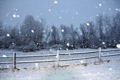 Tempestade da neve foto de stock
