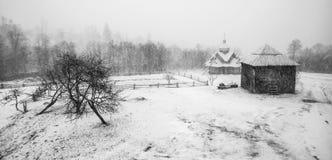 Tempestade da neve do esclarecimento em Rocky Mountains Imagens de Stock Royalty Free