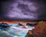 Tempestade da noite foto de stock
