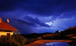 Tempestade da noite Fotografia de Stock