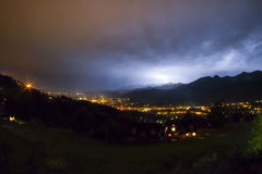 Tempestade da noite Imagens de Stock Royalty Free