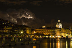 Tempestade da noite fotos de stock royalty free