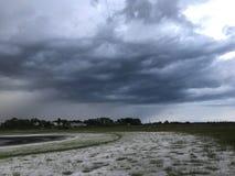 Tempestade da tarde foto de stock royalty free