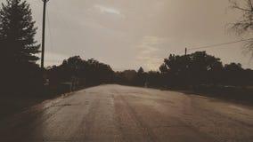 Tempestade da tarde Foto de Stock