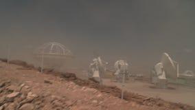 Tempestade de areia em ALMA Base Camp video estoque