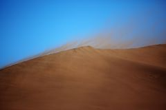 Tempestade de areia no deserto fotografia de stock