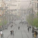 Tempestade de areia no Jerusalém Imagem de Stock