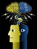 Tempestade de cérebro ilustração royalty free