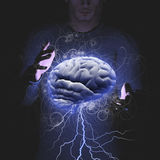 Tempestade de cérebro Imagem de Stock Royalty Free