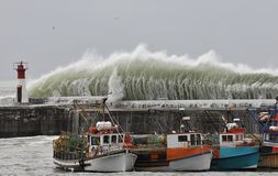 Tempestade de Cape Town Foto de Stock