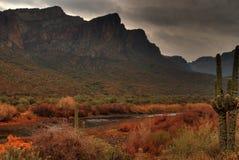 Tempestade de deserto que aproxima 11 imagens de stock royalty free