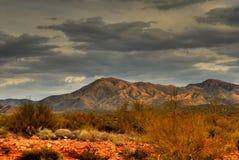 Tempestade de deserto que aproxima 24 imagens de stock