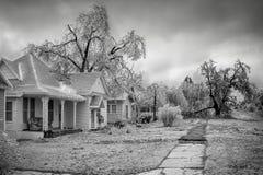 Tempestade de gelo de Oklahoma imagem de stock royalty free