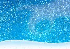 Tempestade de neve ilustração stock
