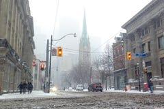 Tempestade de neve Imagens de Stock