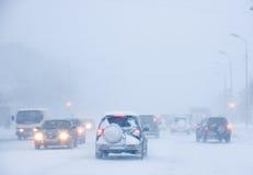 Tempestade de neve fotografia de stock