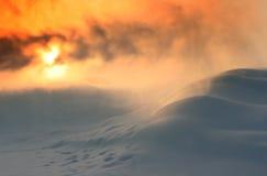 Tempestade de neve Fotos de Stock Royalty Free