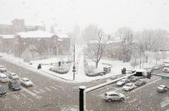 Tempestade de neve abril de 17 em Denver Fotografia de Stock