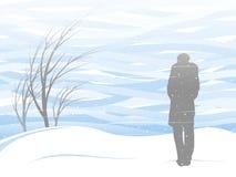 Tempestade de neve branca ilustração royalty free