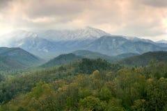 Tempestade de neve da mola Fotos de Stock Royalty Free