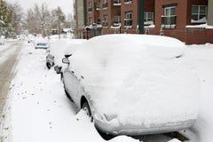 Tempestade de neve de Denver, outubro 29, 2009 Imagem de Stock