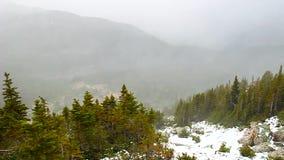 Tempestade de neve de Montanhas Rochosas do canadense filme