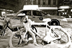 Tempestade de neve de NYC foto de stock