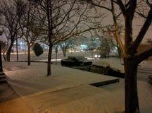 Tempestade de neve em Albuquerque Imagens de Stock Royalty Free