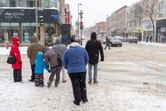 Tempestade de neve em Montreal Foto de Stock