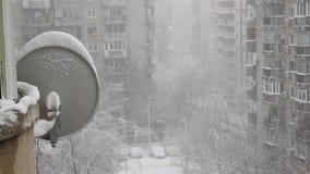 Tempestade de neve entre blocos de planos filme