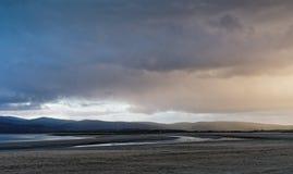 Tempestade de partida, Ynyslas Fotografia de Stock
