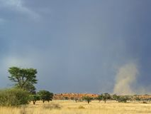 Tempestade de poeira Fotografia de Stock Royalty Free