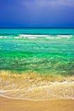 Tempestade do befor da praia foto de stock