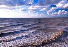 Tempestade do céu do mar Imagem de Stock