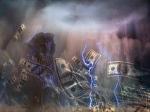 Tempestade do dinheiro ilustração stock