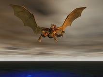 Tempestade do dragão Fotografia de Stock Royalty Free