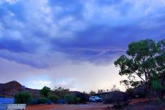 Tempestade do interior do deserto imagem de stock royalty free