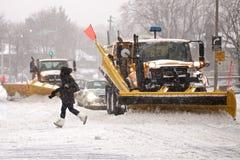 A tempestade do inverno bate Toronto fotografia de stock