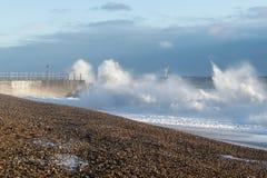 Tempestade 2017 do inverno de Hastings Imagens de Stock Royalty Free