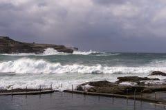 Tempestade do inverno do oceano Foto de Stock Royalty Free