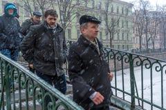 Tempestade do inverno em St Petersburg imagens de stock