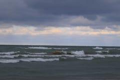 Tempestade do Lago Michigan Fotos de Stock Royalty Free