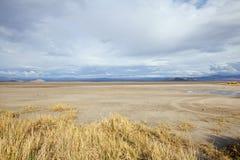 Tempestade do lago seco Mojave imagens de stock