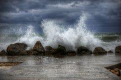 Tempestade do mar Imagens de Stock