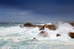 Tempestade do mar Foto de Stock