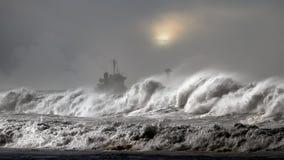 Tempestade do mar Imagem de Stock Royalty Free