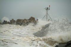 Tempestade do molhe Fotografia de Stock Royalty Free